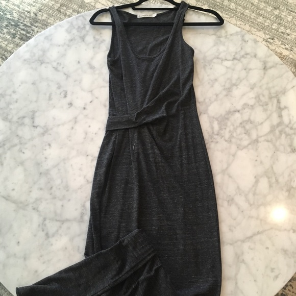 Alternative Dresses & Skirts - Dark Gray Maxi Dress